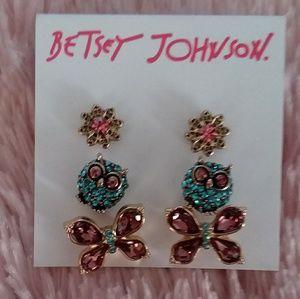 Betsey Johnson stud earrings NWT